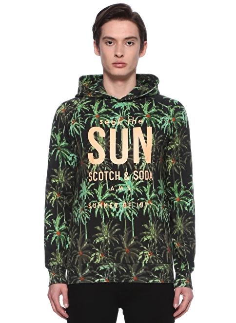Scotch & Soda Kapüşonlu Sweatshirt Yeşil